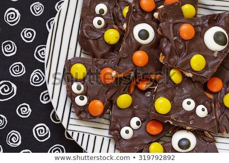 Korkutucu çikolata havlama halloween ev yapımı mutlu Stok fotoğraf © BarbaraNeveu