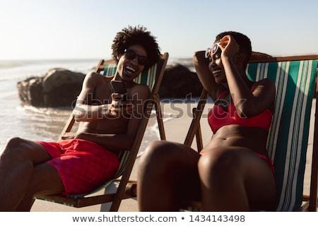 Gelukkig strand Stockfoto © wavebreak_media