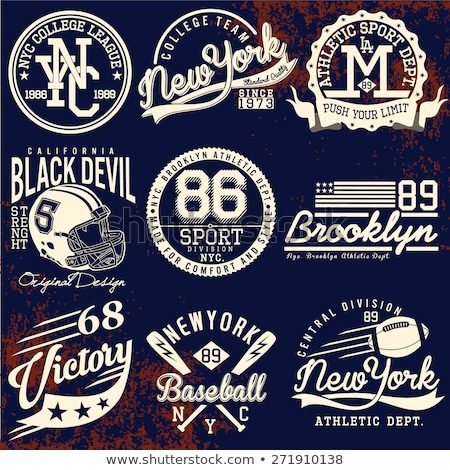 New York Varsity Sport wear typography emblem, t-shirt stamp vector Stock photo © Andrei_