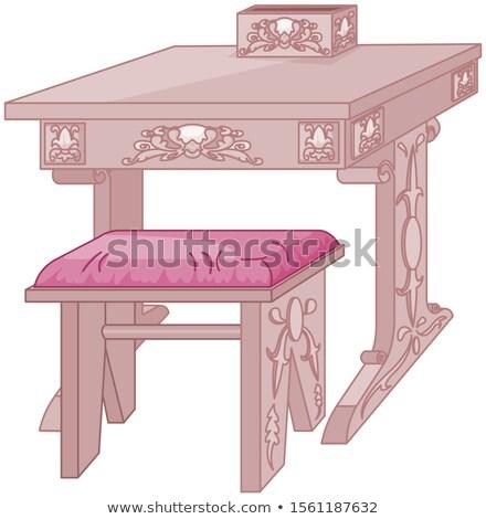 Prinses student bureau stoel school kasteel Stockfoto © Dazdraperma