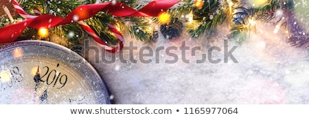Festive Christmas or New Year Background. Blue Christmas Fir-Tree Branches. Holiday's Background. Ve Stock photo © olehsvetiukha