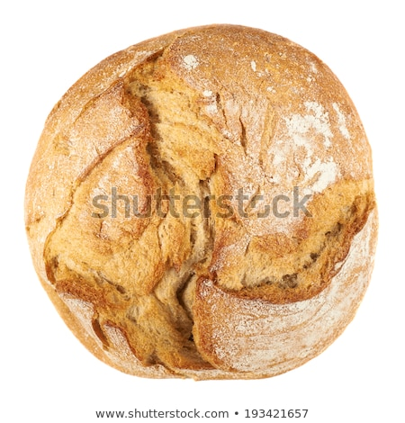 Slice of seeded bread isolated on white background. Traditional bakery heritage. Stock photo © DenisMArt