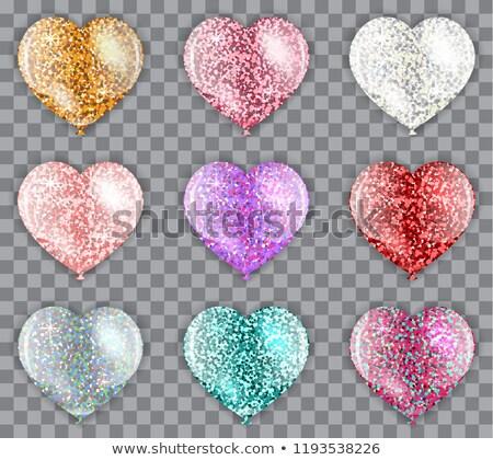 реалистичный розовый сердце шаре гелий Сток-фото © olehsvetiukha