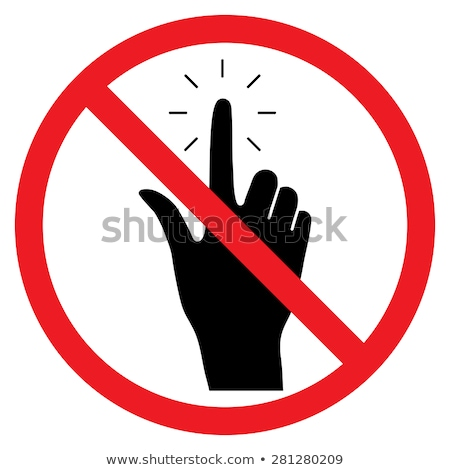 No Hand cursor sign icon. Do not touch or press. Hand pointer symbol. Red prohibition sign. Stop sym Stock photo © kyryloff