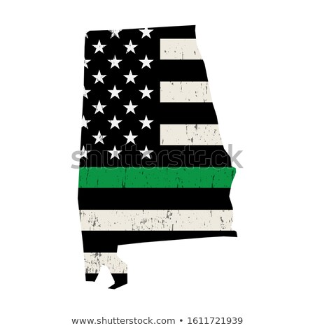 State of Alabama Military Support American Flag Illustration Stock photo © enterlinedesign
