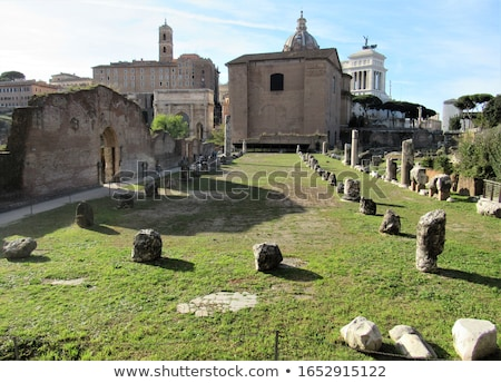 Romano senado edifício céu arquitetônico Roma Foto stock © artjazz
