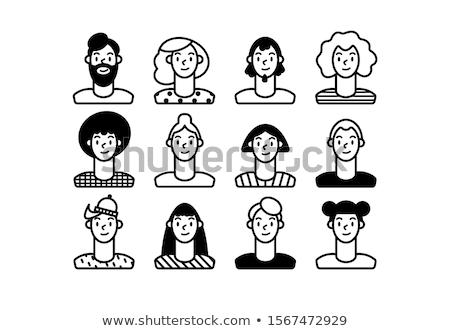 Diferente recursos pessoas ícone vetor Foto stock © pikepicture