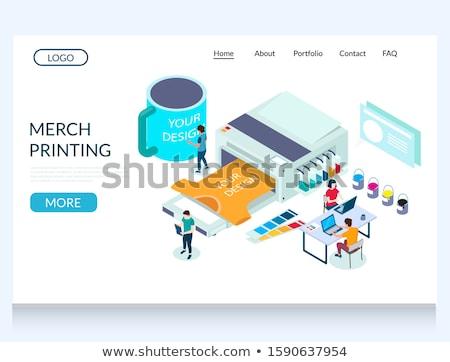 Merch clothing concept landing page Stock photo © RAStudio