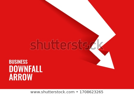 business downfall arrow showing downward trend vector Stock photo © SArts