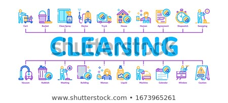 Cleaning Service Tool Minimal Infographic Banner Vector Stock photo © pikepicture