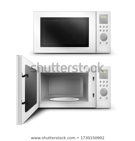 Appliance Microwave and Plate for Kitchen Vector Stock photo © robuart