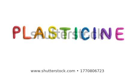 Agyag betűk citromsárga kezek gyerek virális Stock fotó © dashapetrenko