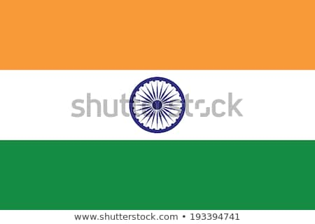 India bandera blanco fondo viaje Asia Foto stock © butenkow