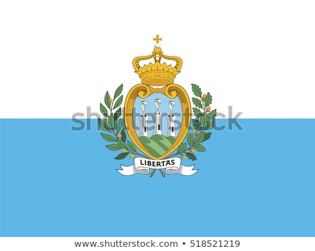 San Marino flag, vector illustration on a white background Stock photo © butenkow