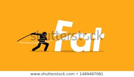 Diyet vektör mecaz kilolu adam Stok fotoğraf © RAStudio