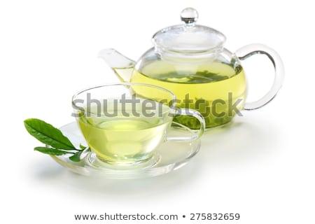 chinese green tea pot and cups stock photo © keko64