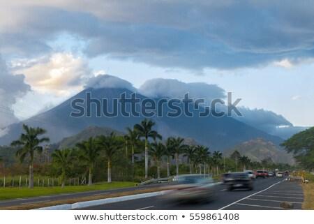 Гватемала шоссе знак зеленый облаке улице знак Сток-фото © kbuntu