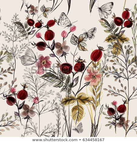 Grungy floral pattern Stock photo © sahua