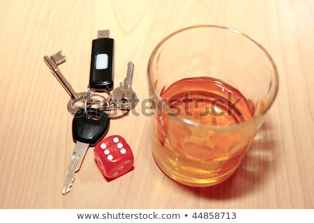 whiskey dice and car keys Stock photo © morrbyte