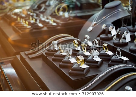 bijoux · magasin · argent · design · verre · Shopping - photo stock © paha_l