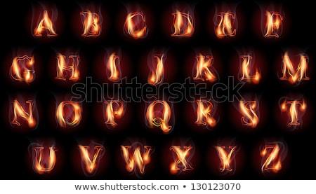 Ognia list ognisty czerwony płomień piękna Zdjęcia stock © Misha