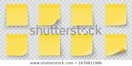 Yellow notes Stock photo © leeser