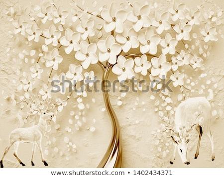 Lovely flower on beige background, illustration stock photo © Julietphotography
