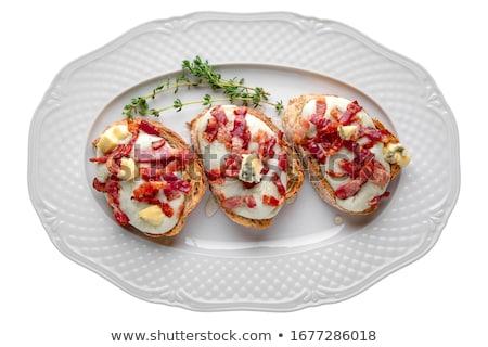 Stok fotoğraf: Domuz · pastırması · füme · salatalık · gıda · kahvaltı