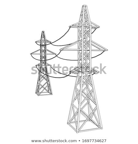High-voltage wires and transformers Stock photo © deyangeorgiev