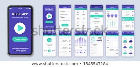 携帯 音楽 スマートフォン 音楽プレーヤー 業界 画面 ストックフォト © pkdinkar