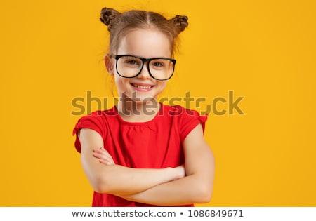 children nerd kid with glasses and happy expression Stock photo © lunamarina