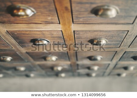 Antique Chinese Medicine Chest Stock photo © Kacpura