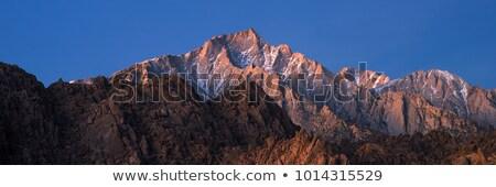 Eastern Sierra Sunrise Panorama Stock photo © pancaketom