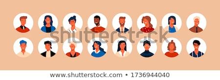 Diverzitás vektor több nemzetiségű emberek ikon gyűjtemény férfi Stock fotó © beaubelle