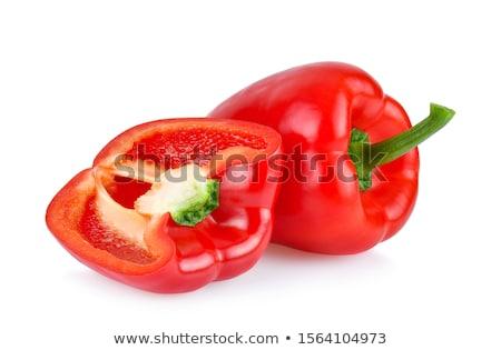 grupo · vermelho · fresco · pimenta · isolado - foto stock © boroda