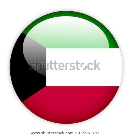 Сток-фото: Кувейт · флаг · икона · изолированный · белый · интернет