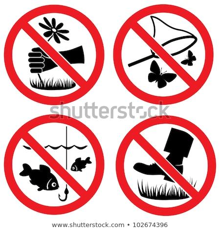 Não pescaria permitido assinar parque conceito Foto stock © jakgree_inkliang