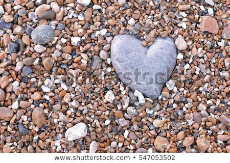szív · alakú · sziget · légifelvétel · jacht · romantikus - stock fotó © smithore