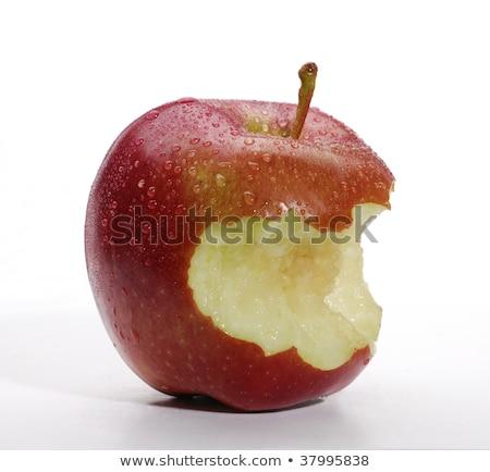 Morder fora maçã desaparecido branco de volta Foto stock © prill
