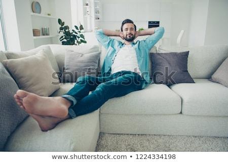 случайный босиком парень человека изолированный Сток-фото © lisafx