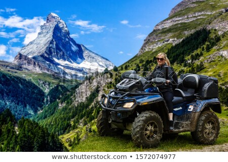 vehicle for extreme terrain near a lake Stock photo © taviphoto