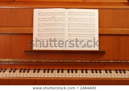 Piano and lyrics book Stock photo © leungchopan