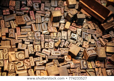 Old wooden type letters Stock photo © sumners