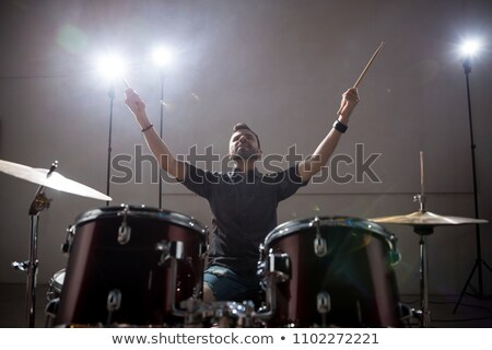 Man with his arms on his drum Stock photo © photography33