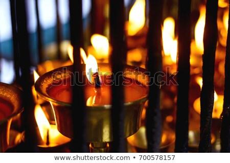 Oil lamp inside a tibetan monastery  Stock photo © haraldmuc