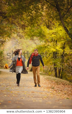 Liefhebbers park familie glimlach tuin zomer Stockfoto © wavebreak_media
