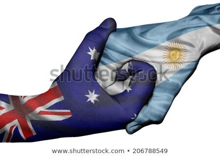 Austrália Argentina mundo australiano bandeira Foto stock © ruskpp