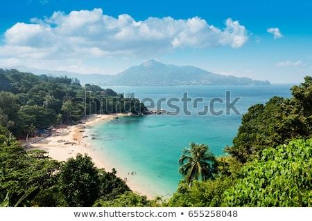 Tayland phuket plaj manzara gökyüzü Stok fotoğraf © pzaxe