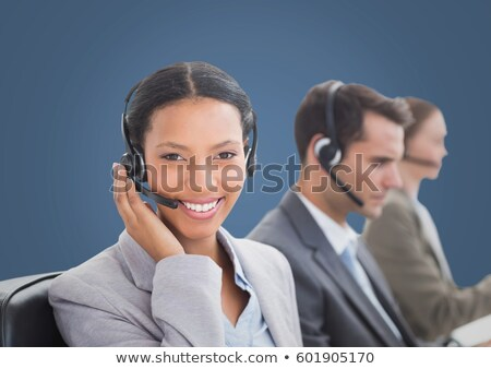 Affaires casque blanche visage heureux technologie Photo stock © wavebreak_media