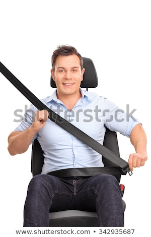 Man fastening his seatbelt in a car Stock photo © wavebreak_media